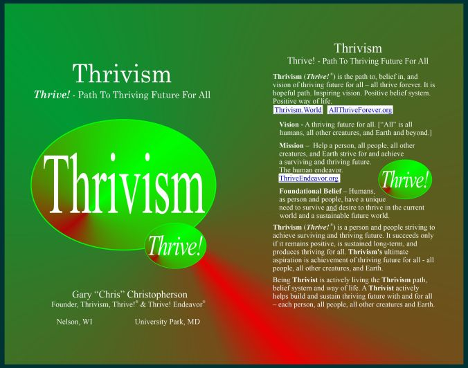New Thrivism book